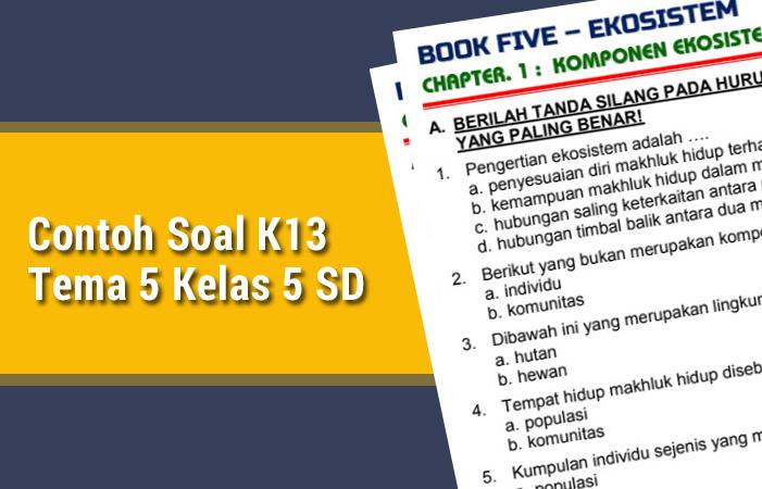 Download Contoh Soal K13 Tema 5 Kelas 5 SD Revisi Terbaru