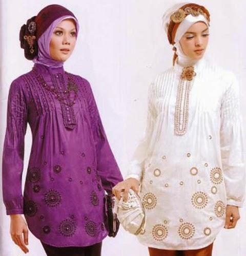 model baju blus muslimah