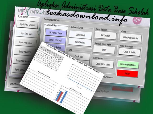 Download Aplikasi Administrasi Data Base Sekolah Otomatis Versi Excel.Xslm