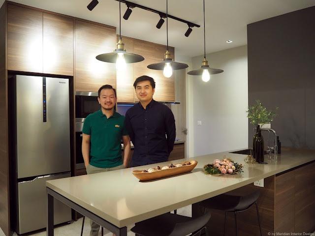 Luxury Condominium Kitchen design by Meridian Interior Design, Kuala Lumpur.