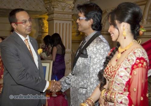 rajesh hamal and madhu bhattarai wedding, anil shah