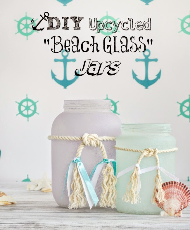 Beach Glass Jars DIY