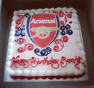 banky w arsenal birthday cake