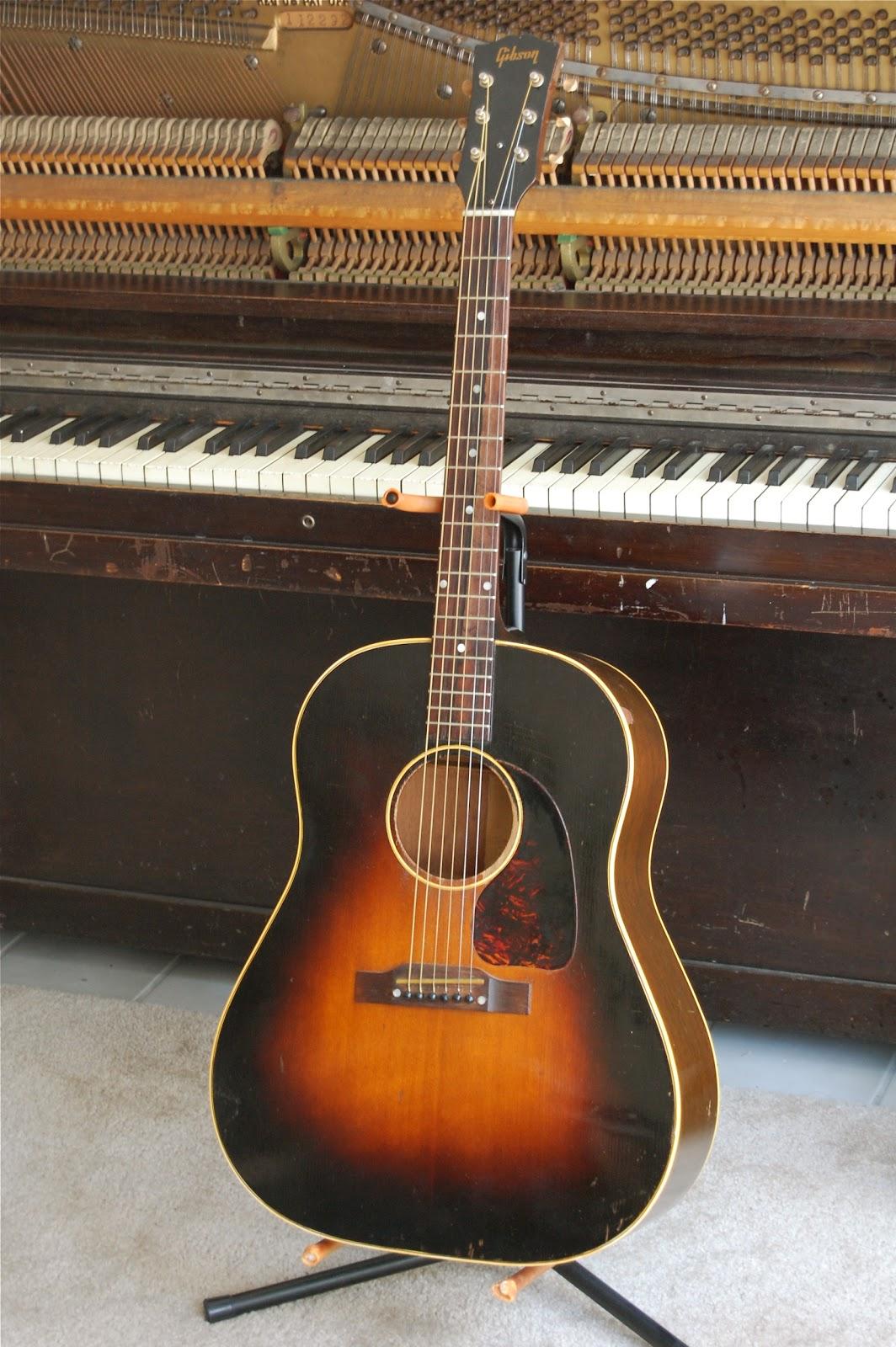 galasso guitars 1953 gibson j 45 nicknamed the workhorse. Black Bedroom Furniture Sets. Home Design Ideas