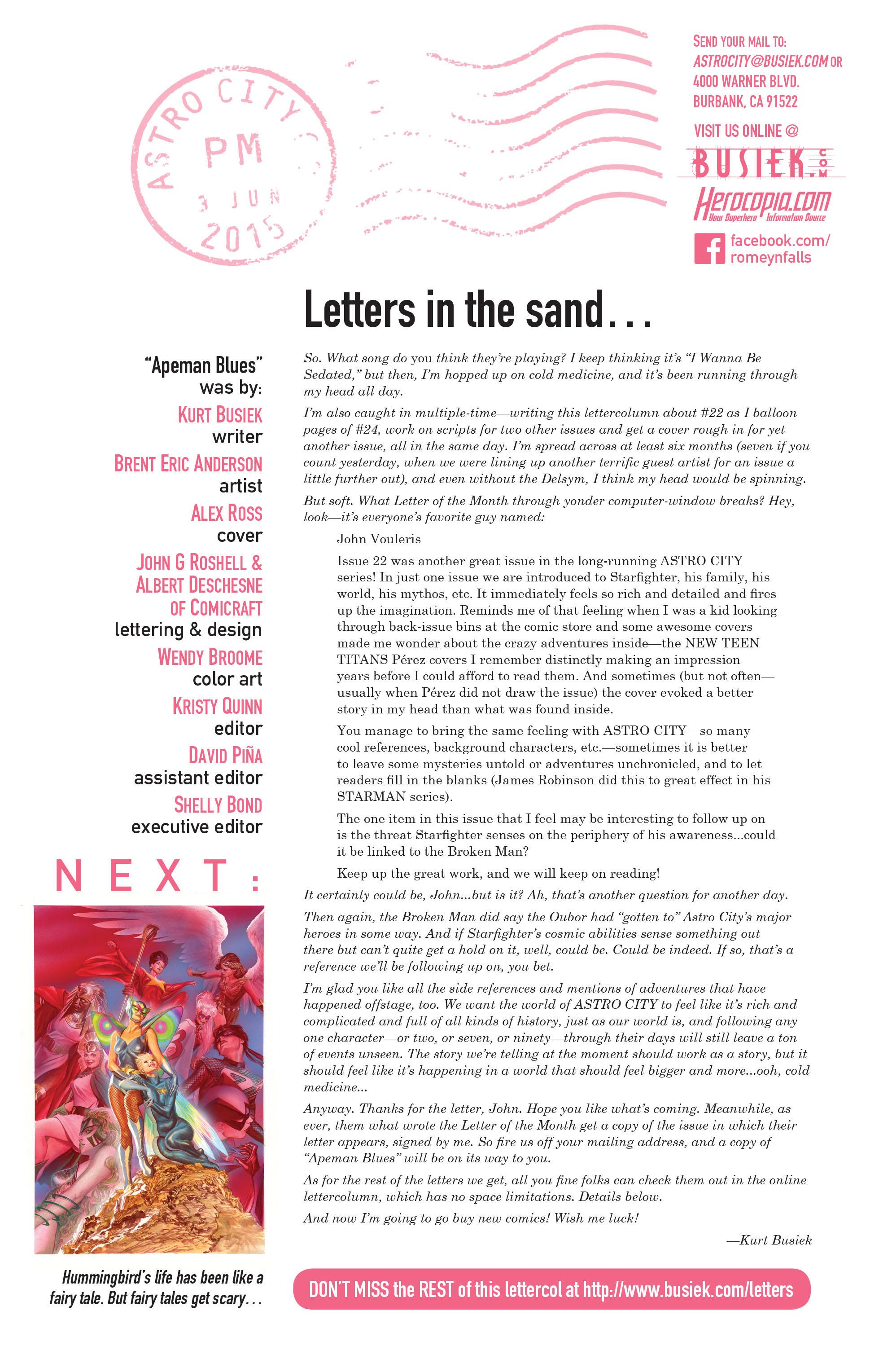 Read online Astro City comic -  Issue #24 - 26