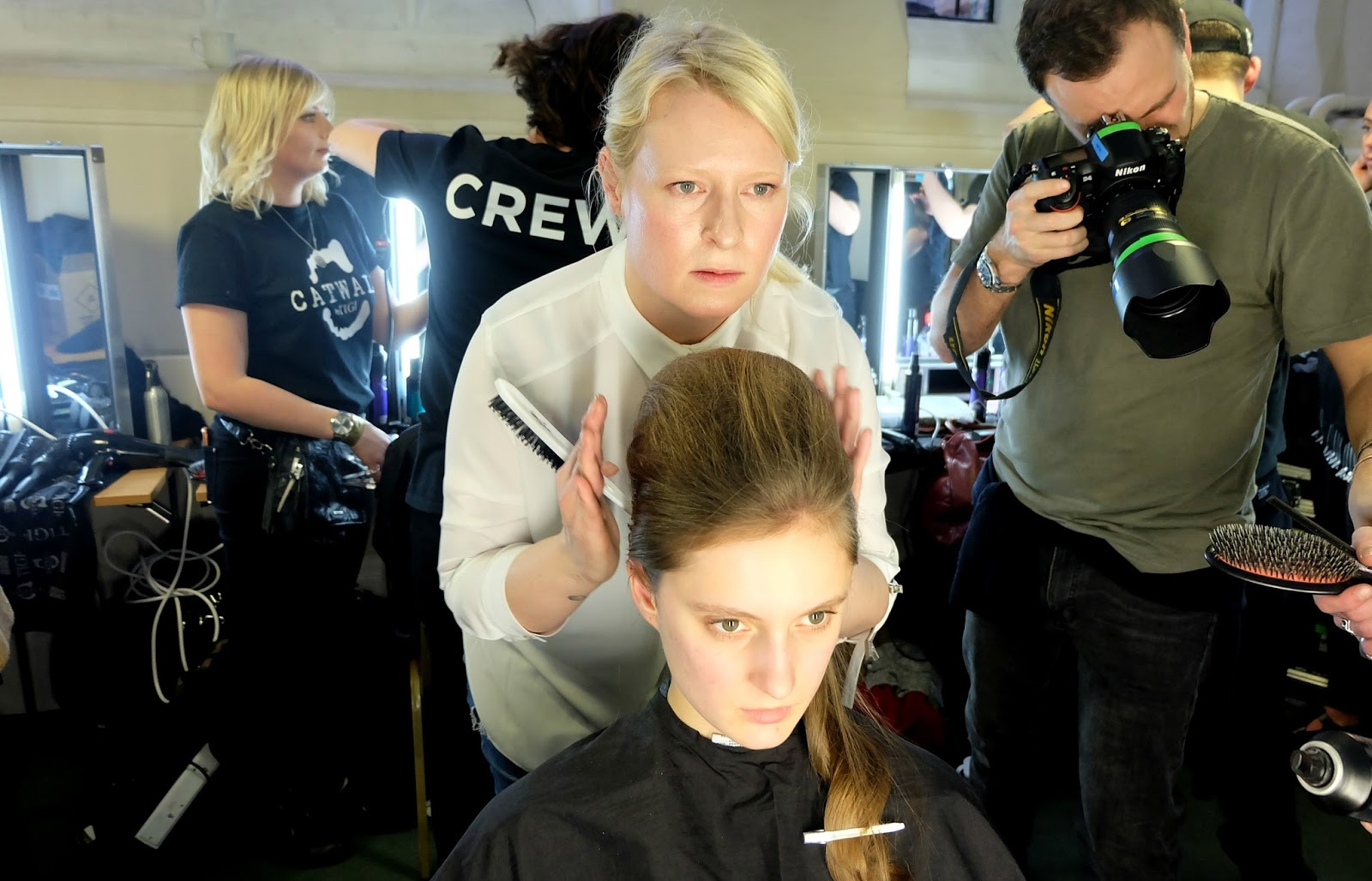 TIGI hair care at PPQ AW16