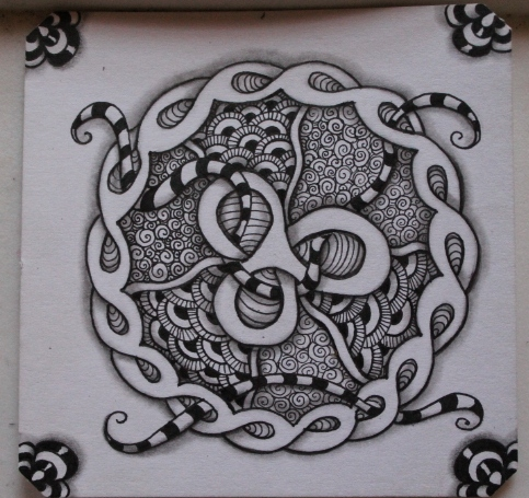 Shnek Zentangle Shaded