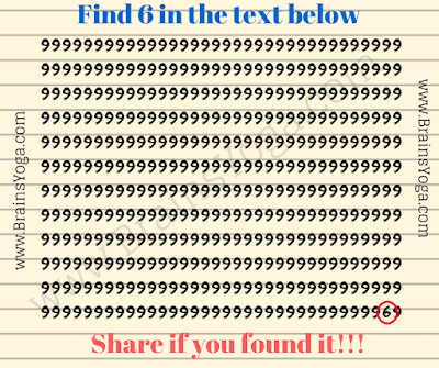 Answer of Picture Puzzle of finding hidden number