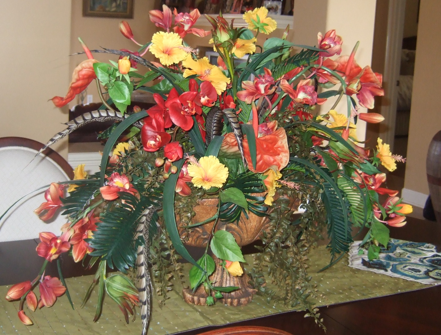 Ana silk flowers artificial flower arrangements all you have to do is put the floral arrangement it in a corner forget about it and go about your business because you wont have to worry about any water mightylinksfo Gallery