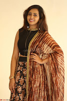 Lasya looks super cute in black choli Saree at Raja Meru Keka Press Meet ~  Exclusive 105.JPG