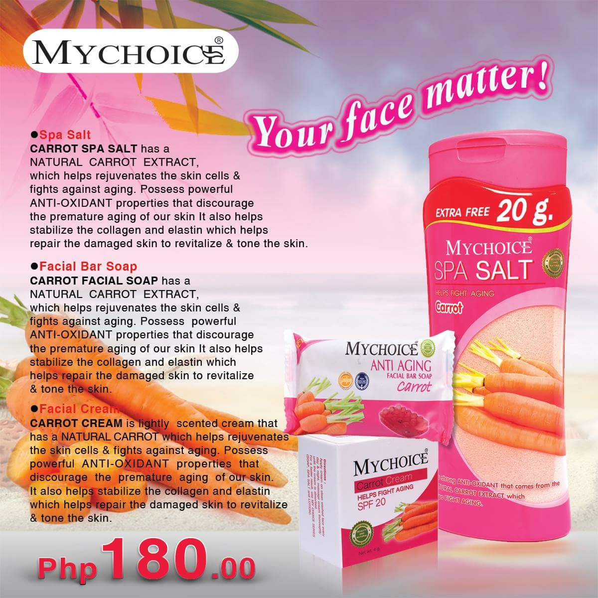 MyChoice Philippines, MyChoice Bubble Scrub Shower Salt, MyChoice Anti Aging Facial Bar soap