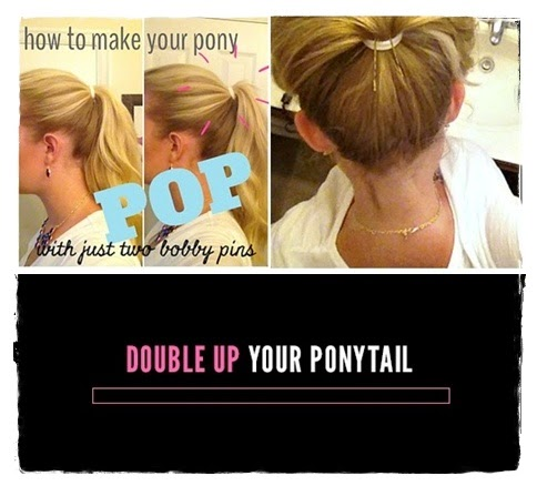 Beauty Hack #3: Double Up Your Ponytail