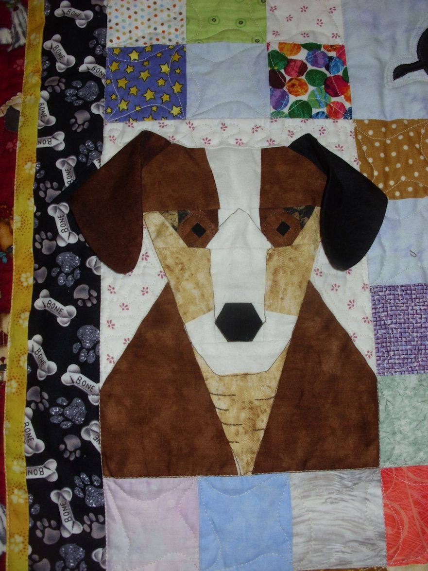 Elizabeth S Quilt Projects Puppy Love Finish