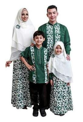 Baju batik untuk keluarga muslim terbaru
