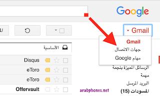 عرض و استعادة جهات الاتصال من Gmail Contacts