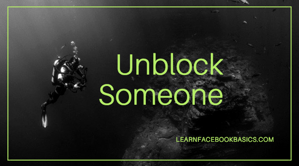 How to Unblock Someone on Facebook   Unblocking Facebook Friends