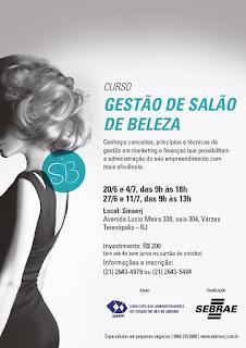 Curso Sebrae RJ em Teresópolis - Gestão de Salão de Beleza- Últimas Vagas!