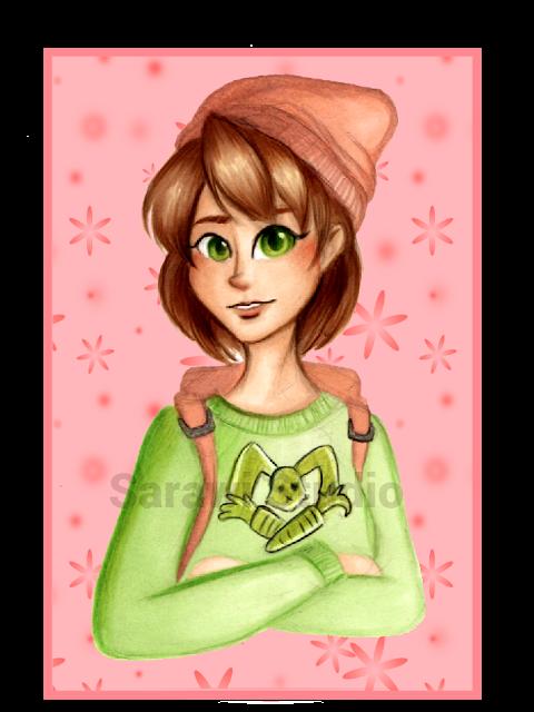 postać, rysunek, portret, dziewczynka, anime, promarker, królik, drawing