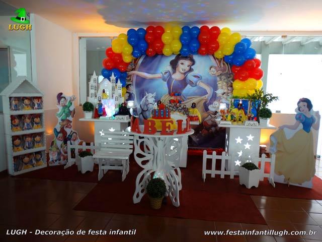 Decoração de aniversário infantil Branca de Neve - Festa feminina - Provençal
