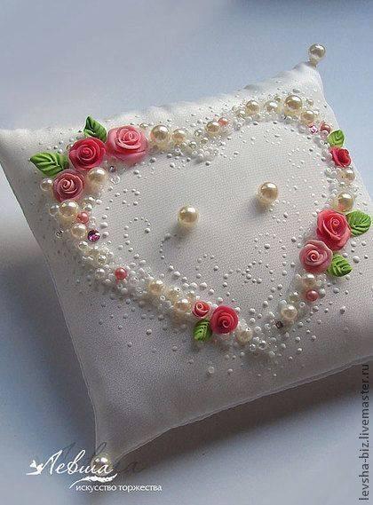 serce haftowane na podusi