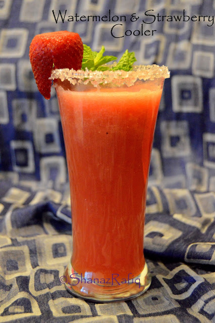 Watermelon Strawberry Juice