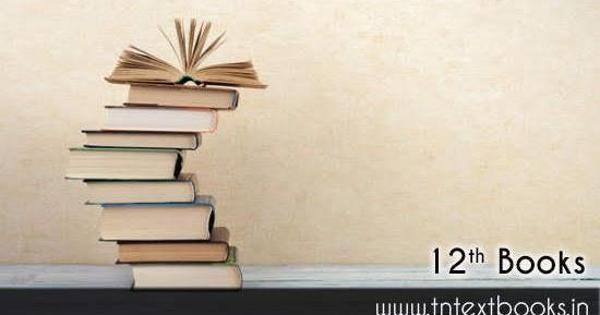 Tamilnadu 12th New Books Free Download Samacheer Kalvi Textbook Pdf