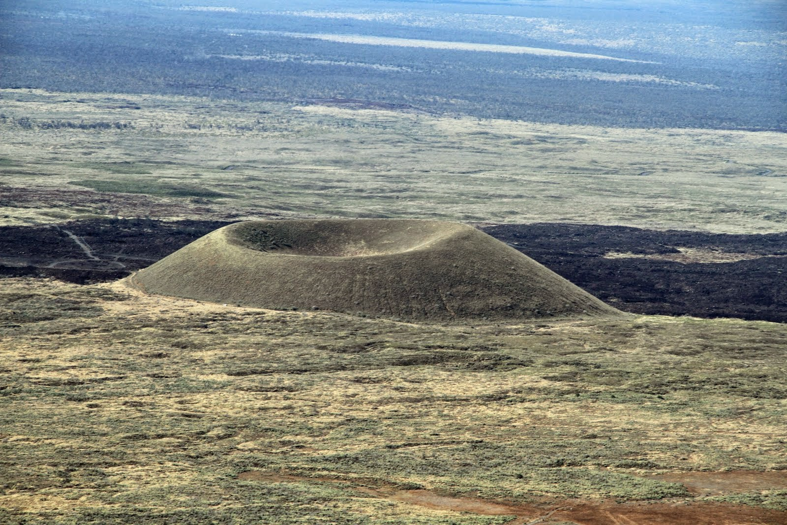Cinder Cone volcano Pu'u ka Pele on the flanks of shield volcano Mauna Kea on the Island of Hawaii