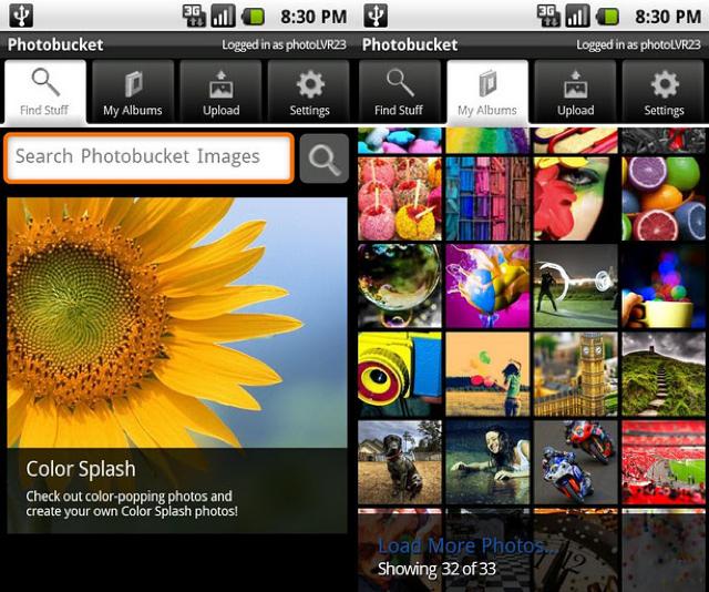 Mobile apps for photographers Photobucket Mobile