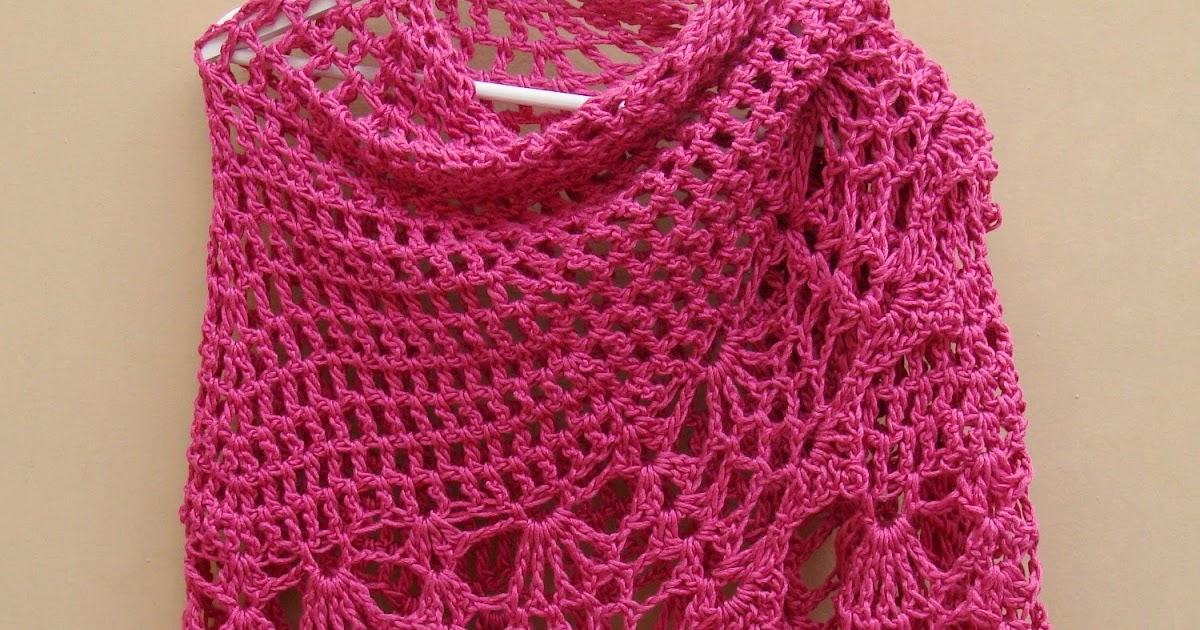 Lanas de Ana: 2 All Shawls: Pink and Red
