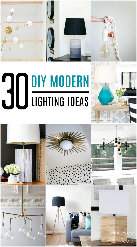 Get inspired with a roundup of 30 DIY friendly Modern Lighting ideas