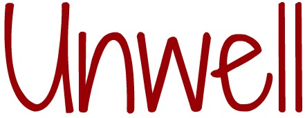a text version of the word unwell
