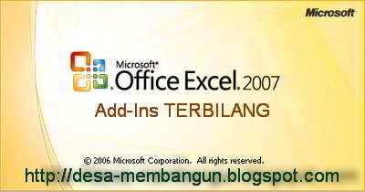 Fungsi TERBILANG pada Excel