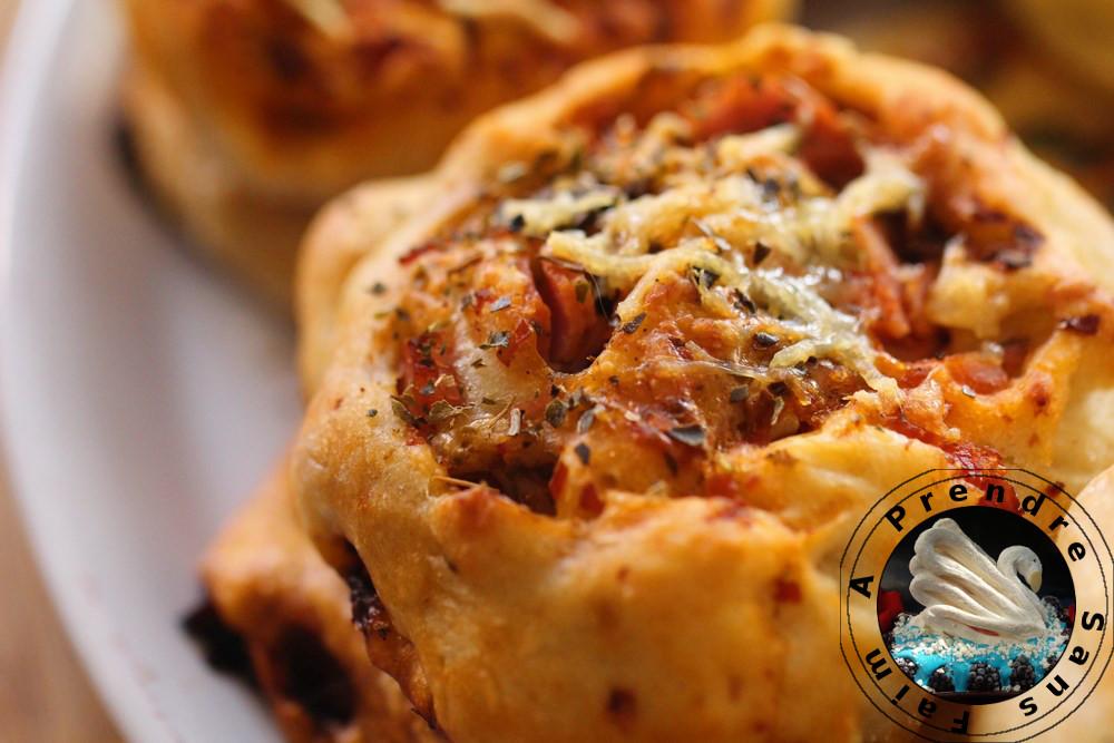 Pizza roulée au chorizo