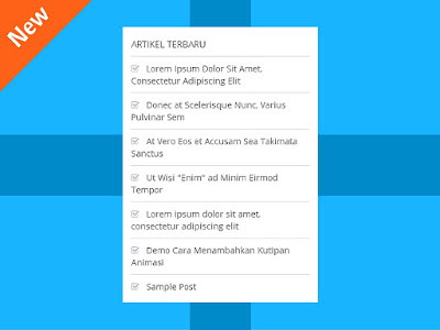 Recent Posts Widget Paling Mudah dan Trendi