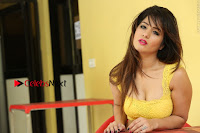 Cute Telugu Actress Shunaya Solanki High Definition Spicy Pos in Yellow Top and Skirt  0554.JPG