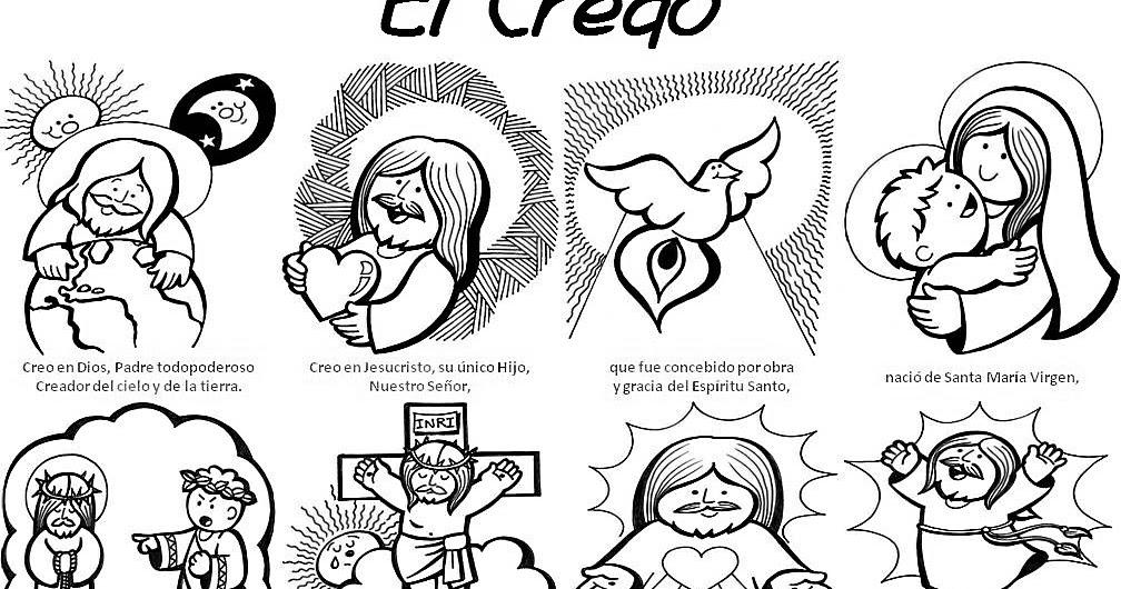 Dibujos De Comunion Para Imprimir Y Colorear: Catequesis Primera Comunión: El Credo Para Colorear