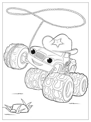 gambar mewarnai starla blaze and the monster machines