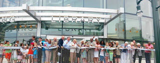 ribbon cutting at silver spring library