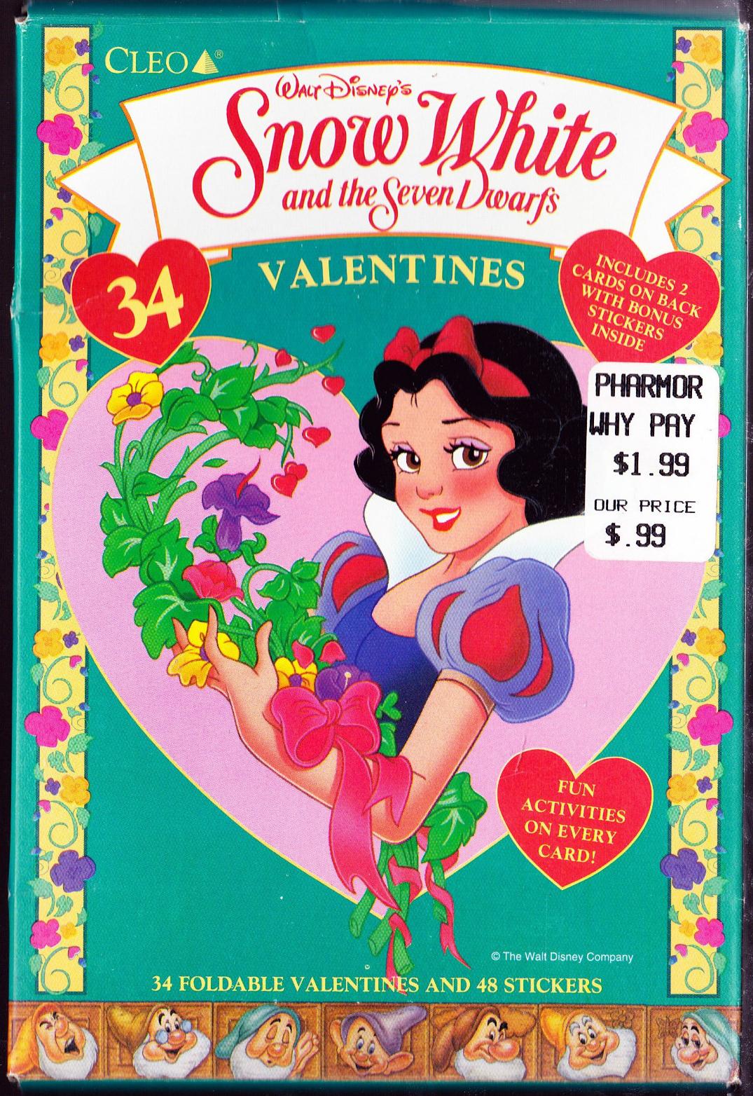 Filmic Light Snow White Archive School Valentine Cards