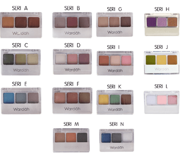 Harga Eyeshadow Wardah 14 Seri A - N Review
