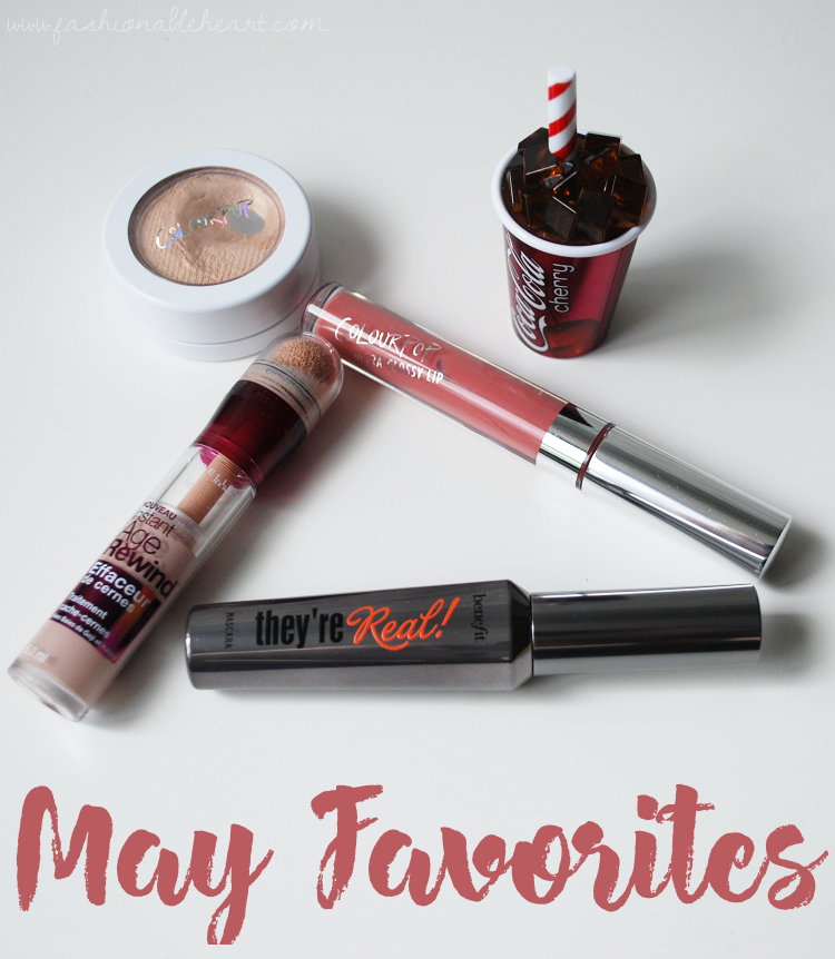 bbloggers, bbloggersca, canadian beauty bloggers, sc bloggers, southern blogger, monthly favorites, colourpop lunch money, colourpop bestie, lipsmackers, lipsmacker cherry coke, lip balm, ultra glossy lips, maybelline instant age rewind, benefit they're real, mascara