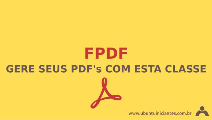criar pdf com a classe php fpdf