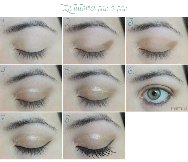 Tutoriel maquillage Cut Crease Doré