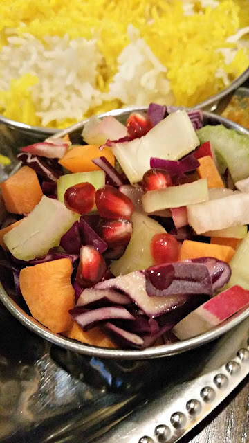 pomegranate studded fresh salad