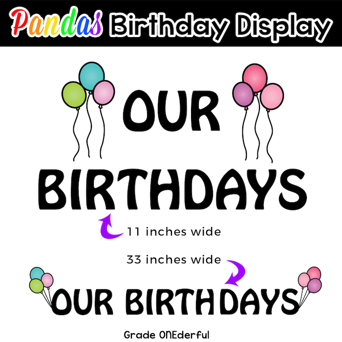 An adorable set of birthday pandas for the year. Includes editable files, two sizes and birthday banners, too!