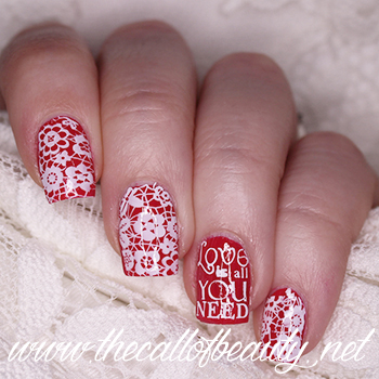 Rockabilly Bride Nail Art
