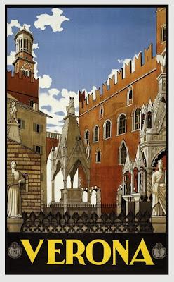 Poster de Verona / Poster de Verona con monumentos