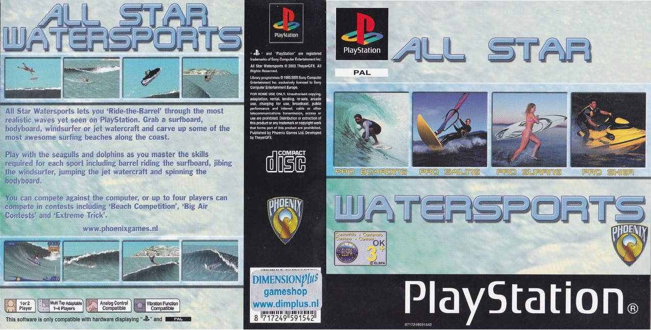 All Playstation 1 Games : To z of playstation games all star watersports