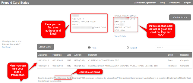 Prepaid Card Status Home page Brought to you by www.Techrajput.com
