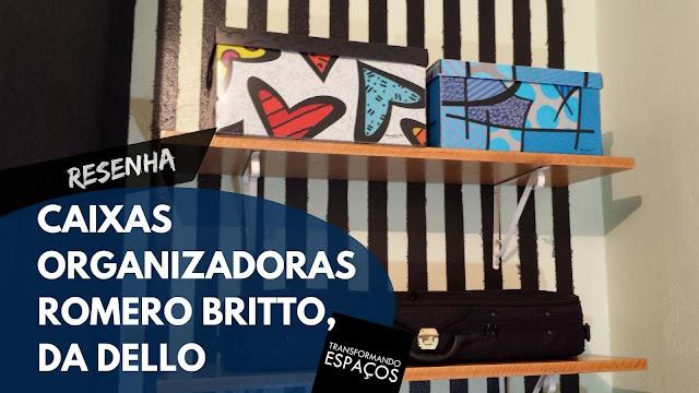 Como organizei meu home office com as caixas By Romero Britto da Dello